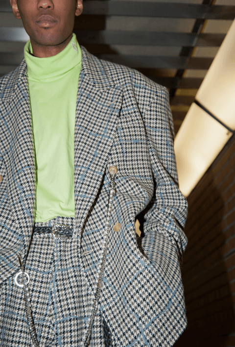 elconductorH - WOOL CHECK JACKET 'WIRE'