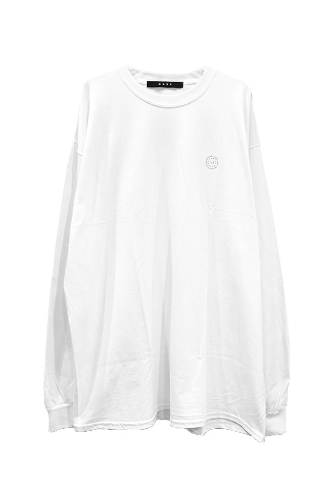 MUZE BLACK LABEL - CIRCLE LOGO L/S TEE(WHITE)