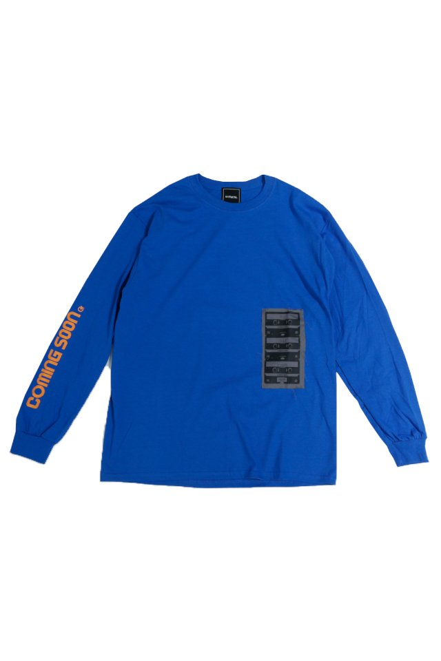 "reGretGirl × H>FRACTAL -""COMING SOON"" L/S TEE(BLUE)"