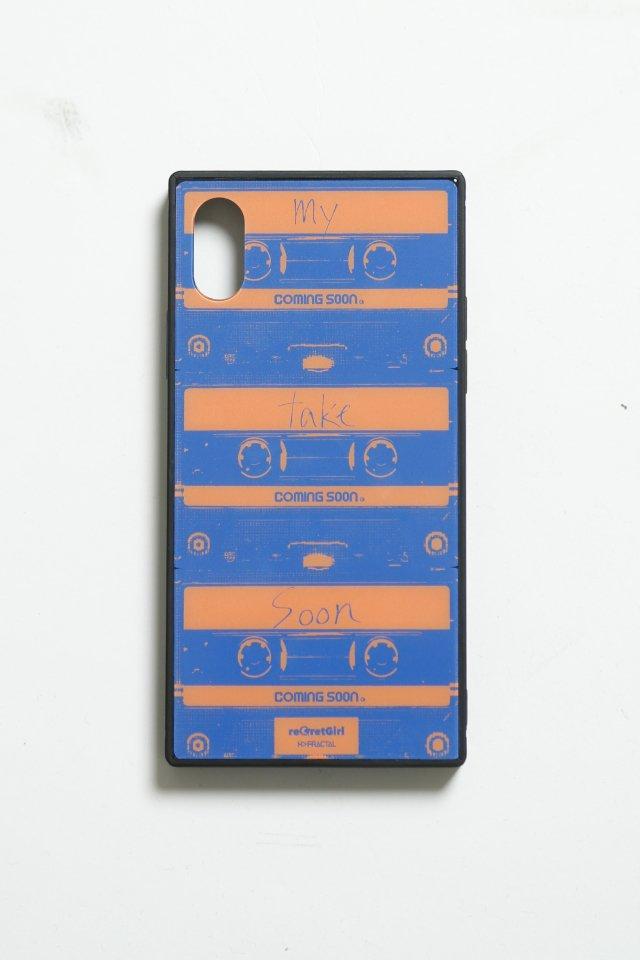 """【予約商品】reGretGirl × H>FRACTAL -""""COMING SOON"""" iPhone case(BLUE)"""