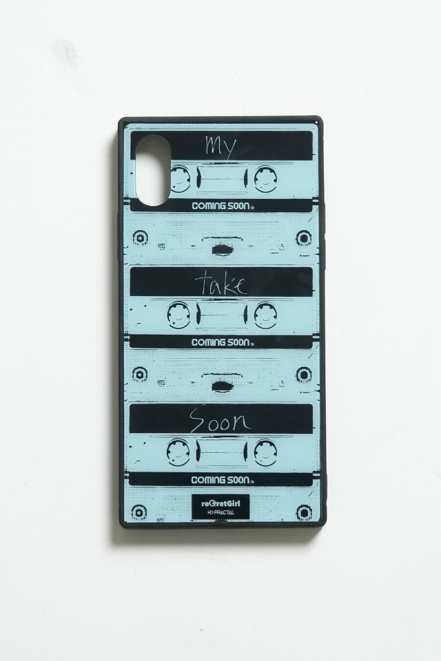 "reGretGirl × H>FRACTAL -""COMING SOON"" iPhone case(BLACK)"