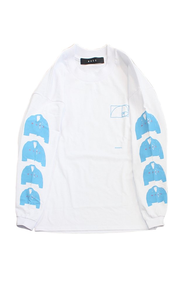 "MUZE BLACK LABEL - ""RIDERS PAINT"" L/S TEE(WHITE)"