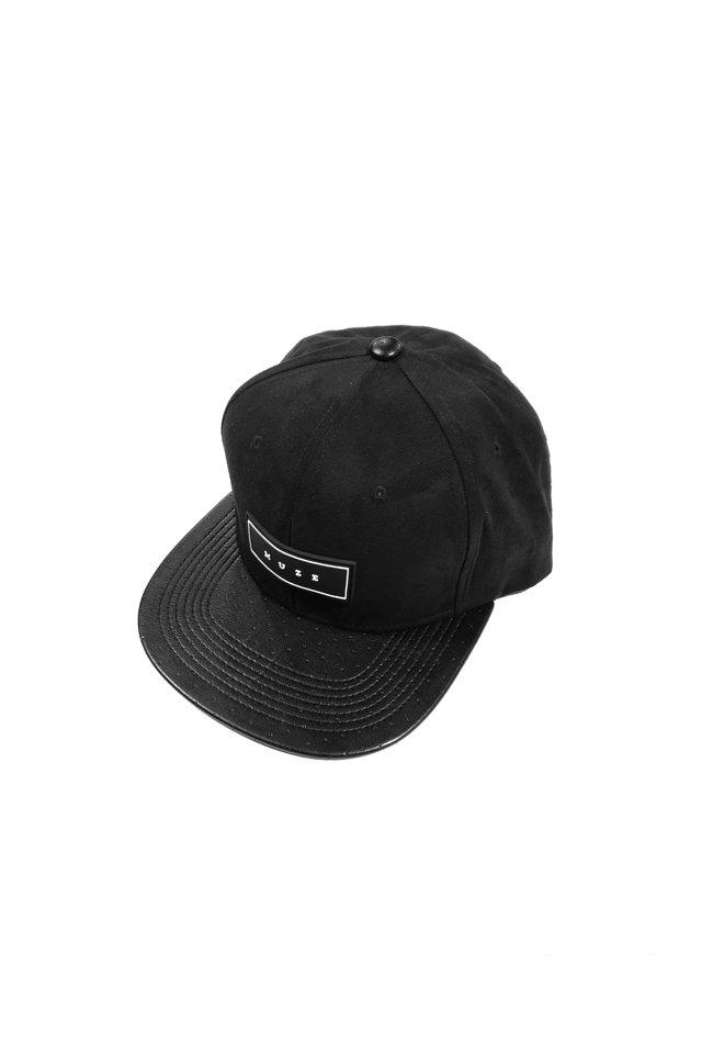 MUZE - LOGO SUEDE CAP (BLK/WHT)