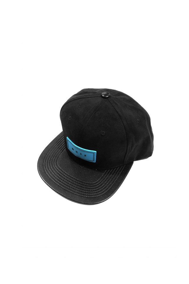 MUZE - LOGO SUEDE CAP (BLK/turquoise)