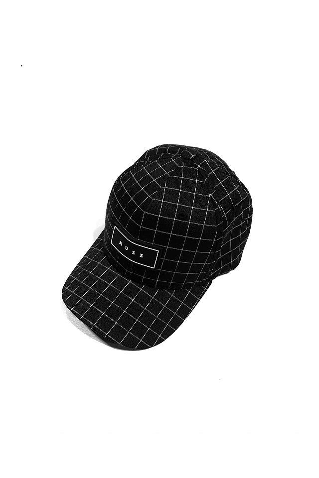 MUZE - LOGO GRID CAP(BLK/WHT)