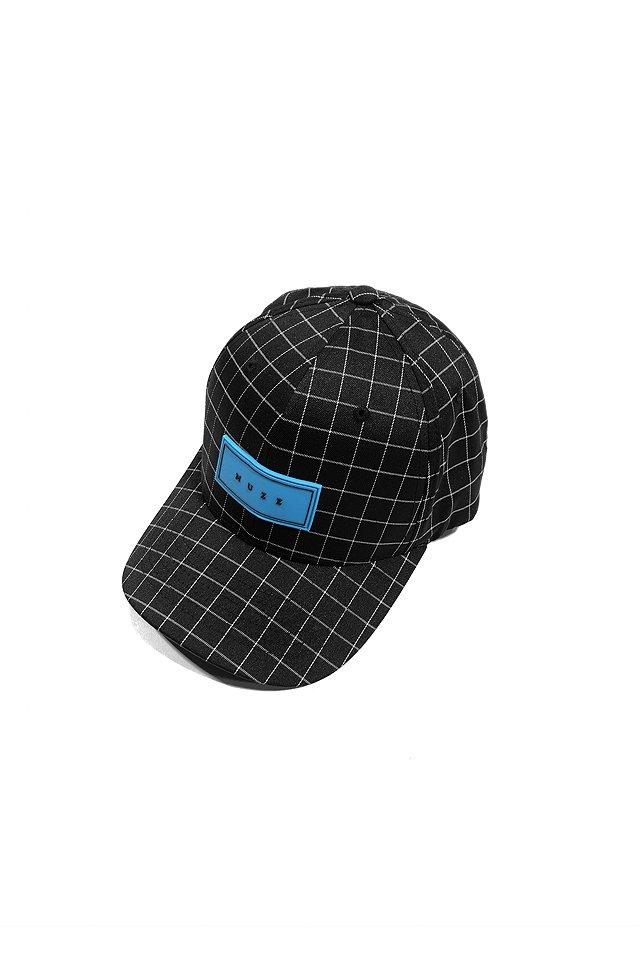MUZE - LOGO GRID CAP(BLK/turquoise)