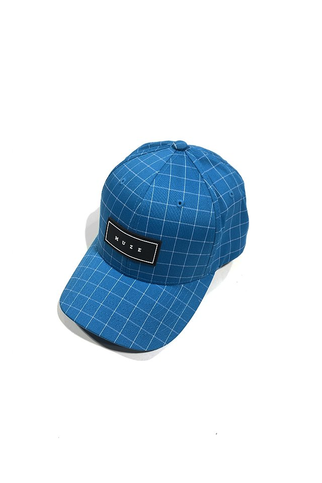 MUZE - LOGO GRID CAP(turquoise)