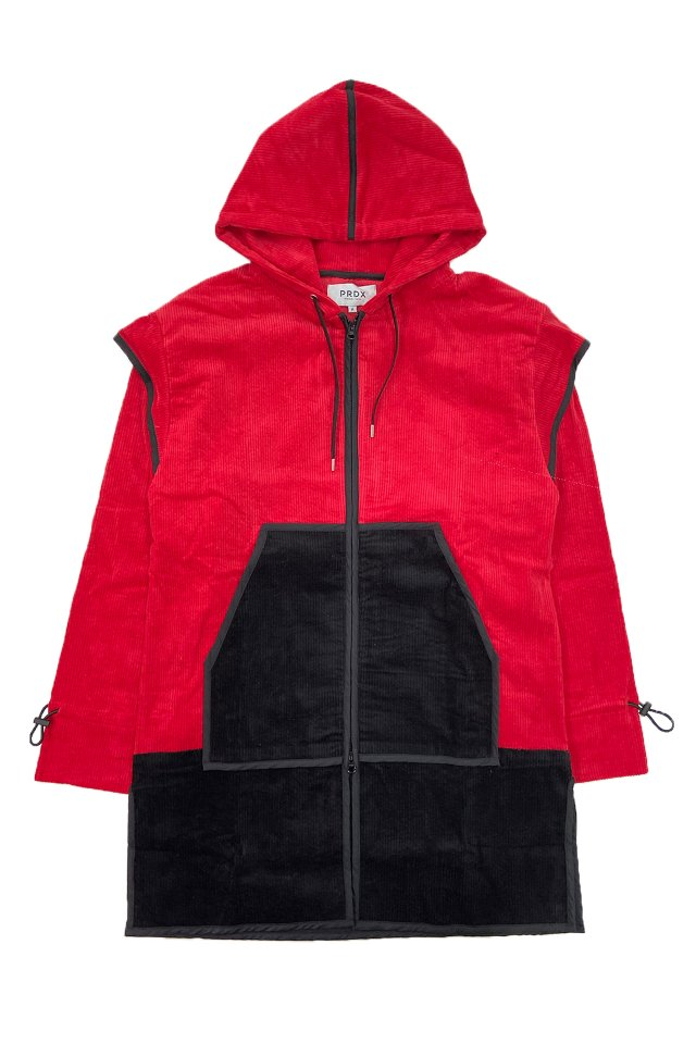 【20%OFF】PARADOX-PIPING ZIP PARKA (RED)