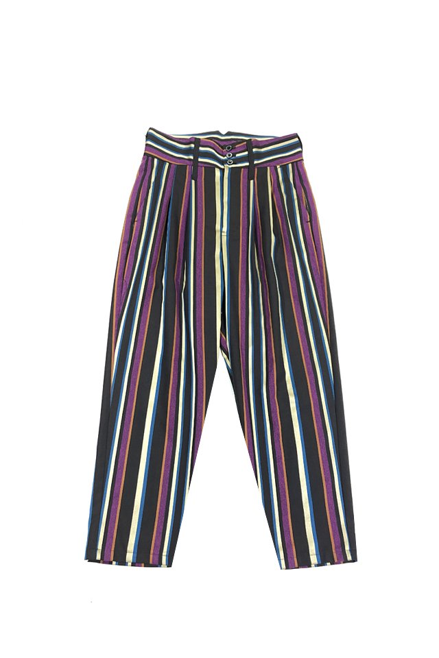 MUZE turquoise label - MULTI STRIPE SLACKS(MULTI) ミューズ 2019-20年秋冬コレクション