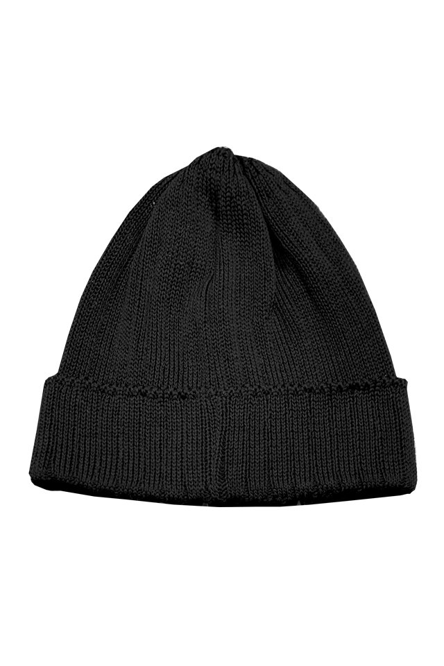 MUZE TURQUOISE LABEL - RIB KNIT CAP (BLACK)