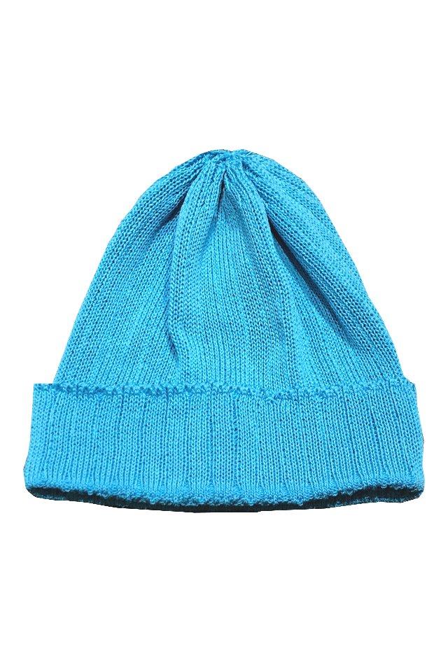 MUZE TURQUOISE LABEL - RIB KNIT CAP (TURQUOISE)
