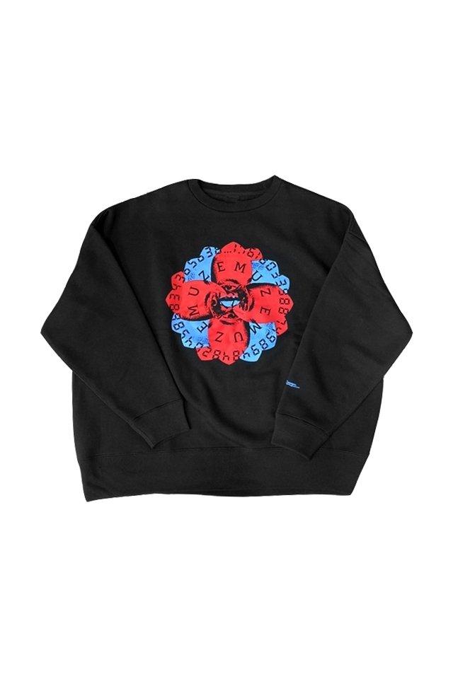 MUZE BLACK LABEL - FLOWER LOGO SWEAT ミューズ ブラックレーベル スウェット
