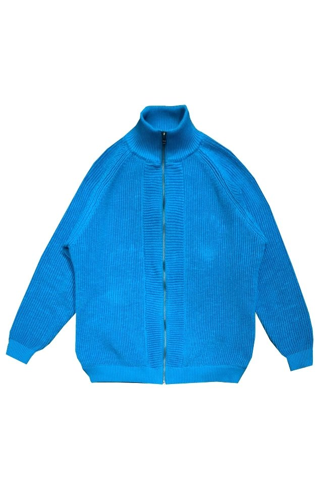 MUZE turquoise label -DRIVERS KNIT (TURQUOISE)