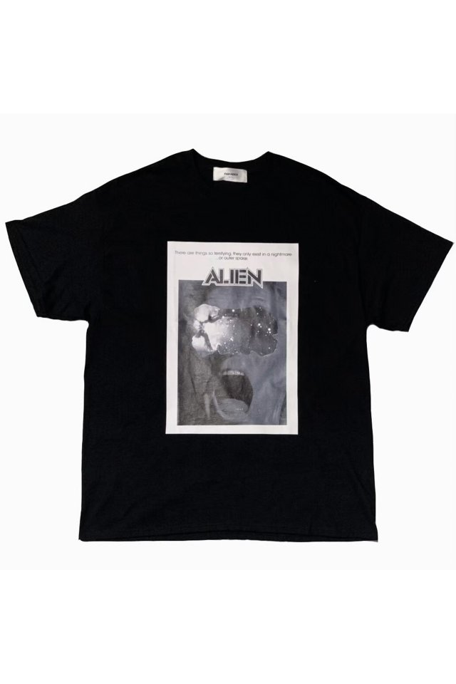 PARADOX×ALIEN - PRINT BIG TEE (BLACK)