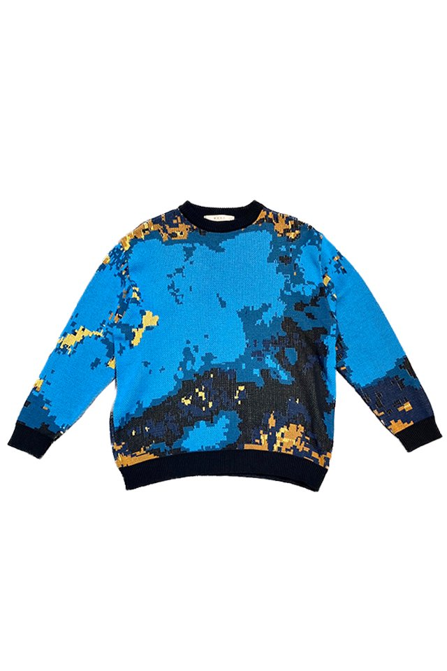 【coming soon】MUZE turquoise label - TURQUISE KNIT (LANDER BLUE)