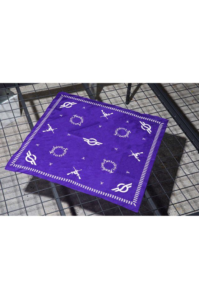 【3月上旬配送予定】FASHION SURVIVOR 2nd SURVIVOR BANDANA (PURPLE)