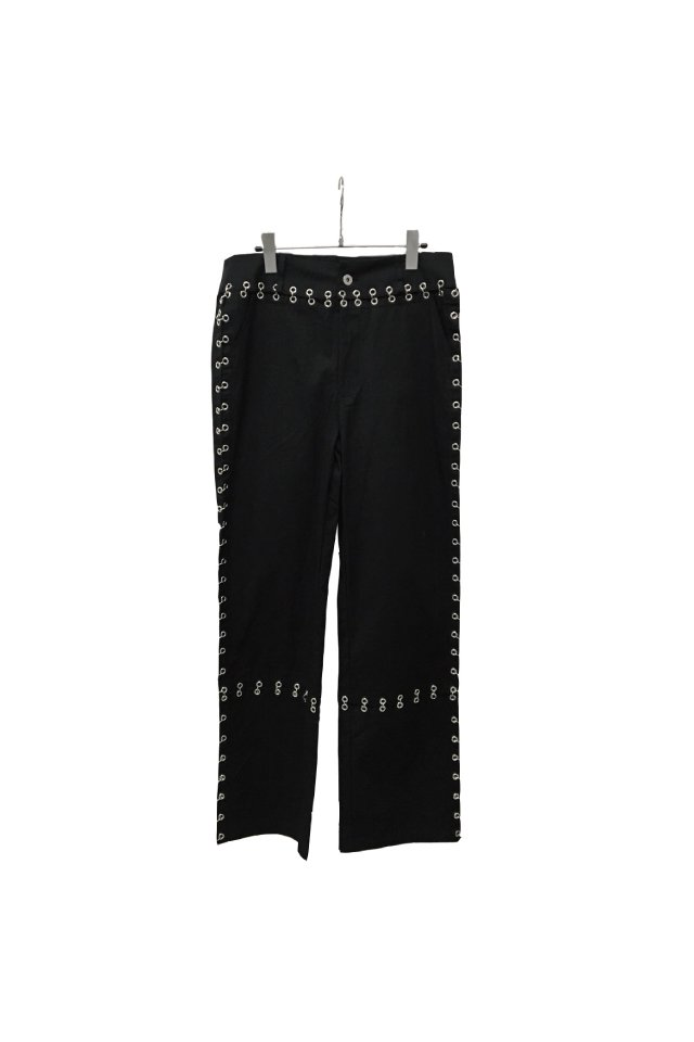 IKUMI - PIERCED LONG PANTS(BLACK)
