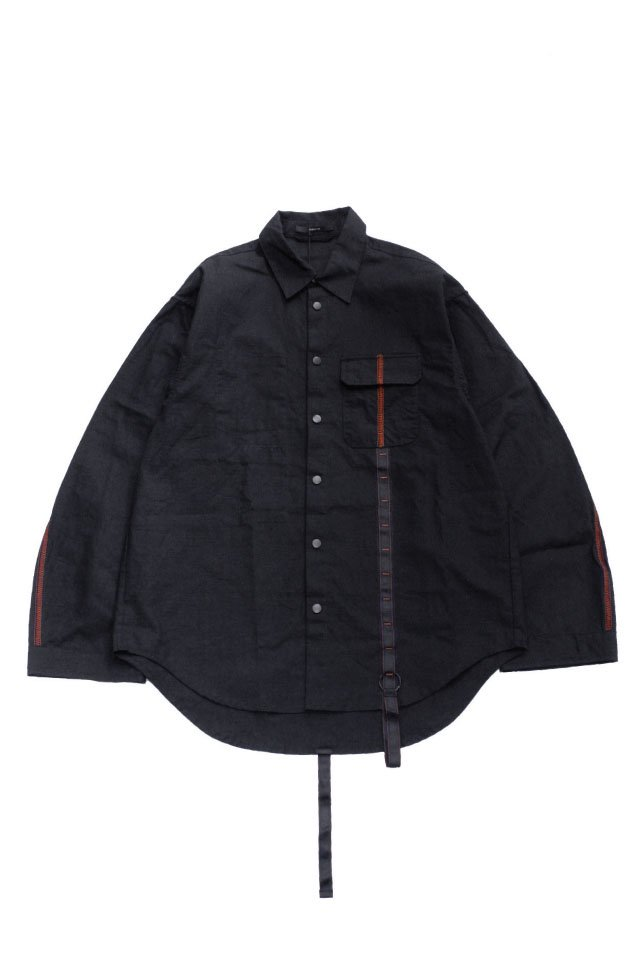 <img class='new_mark_img1' src='https://img.shop-pro.jp/img/new/icons1.gif' style='border:none;display:inline;margin:0px;padding:0px;width:auto;' />KOMAKINO - FIELD JACKET SHIRT(BLACK) コマキノ S/S2020 collection