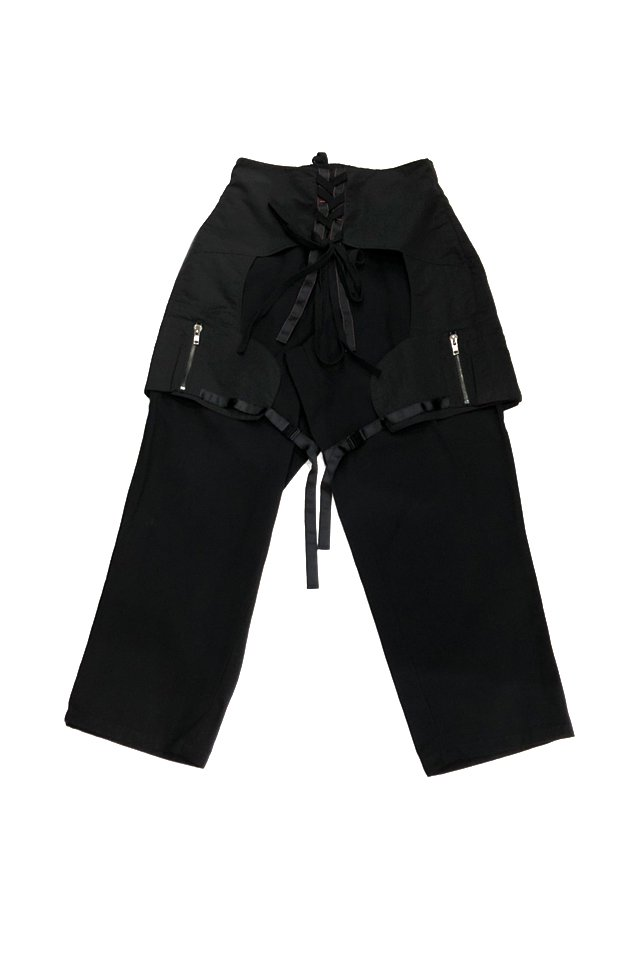 <img class='new_mark_img1' src='https://img.shop-pro.jp/img/new/icons1.gif' style='border:none;display:inline;margin:0px;padding:0px;width:auto;' />KOMAKINO - CHAPS TROUSERS (BLACK) コマキノ S/S2020 collection