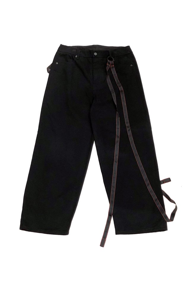 <img class='new_mark_img1' src='https://img.shop-pro.jp/img/new/icons1.gif' style='border:none;display:inline;margin:0px;padding:0px;width:auto;' />KOMAKINO - WARNING 5- POCKETS TROUSERS(BLACK) コマキノ S/S2020 collection