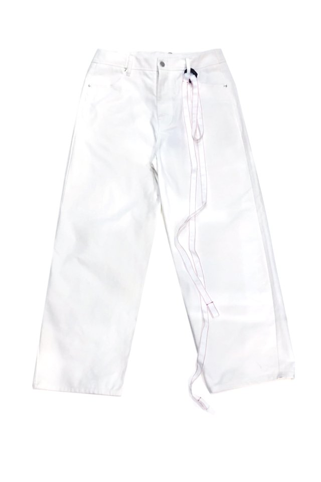 <img class='new_mark_img1' src='https://img.shop-pro.jp/img/new/icons1.gif' style='border:none;display:inline;margin:0px;padding:0px;width:auto;' />KOMAKINO - WARNING 5- POCKETS TROUSERS(WHITE) コマキノ S/S2020 collection