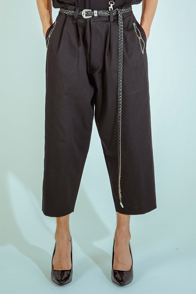 elconductorH - STUDDED COTTON WIDE TROUSERS コンダクター 2020年春夏コレクション