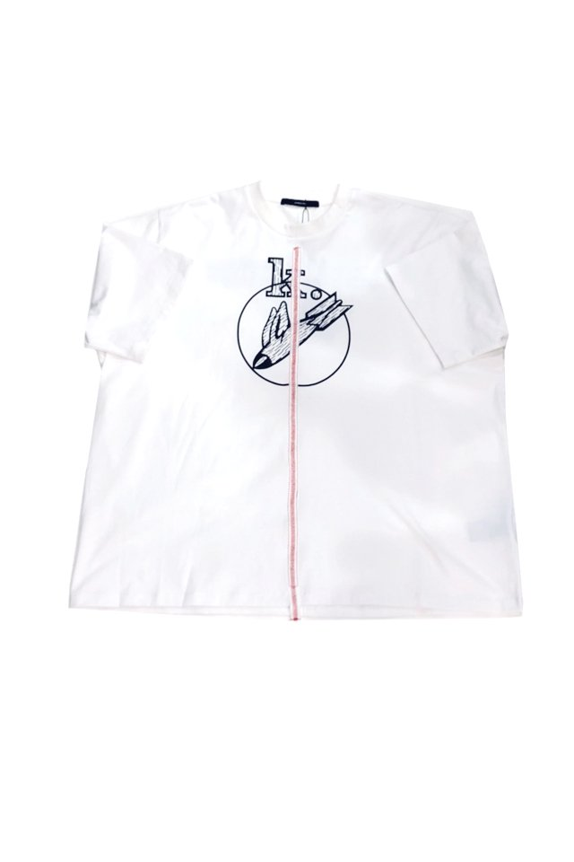 <img class='new_mark_img1' src='https://img.shop-pro.jp/img/new/icons1.gif' style='border:none;display:inline;margin:0px;padding:0px;width:auto;' />KOMAKINO - DISCHARGE T-SHIRT(WHITE) コマキノ S/S2020 collection