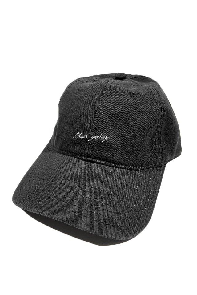 【受注商品5月中旬より順次お届け】MUZE GALLERY - SOUVENIR LOGO CAP (BLACK)