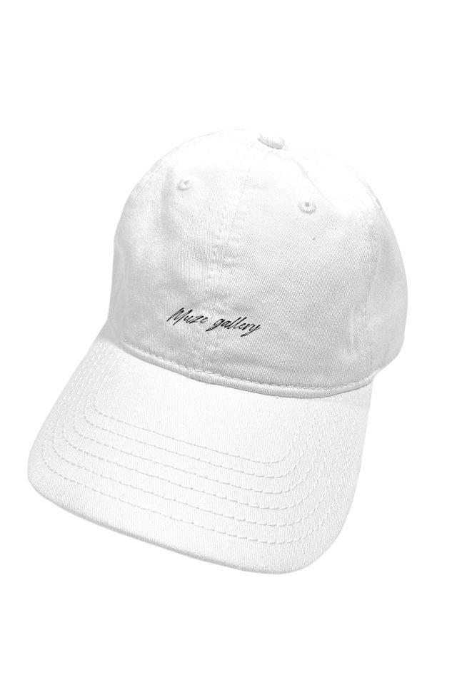 【受注商品5月中旬より順次お届け】MUZE GALLERY - SOUVENIR LOGO CAP (WHITE)