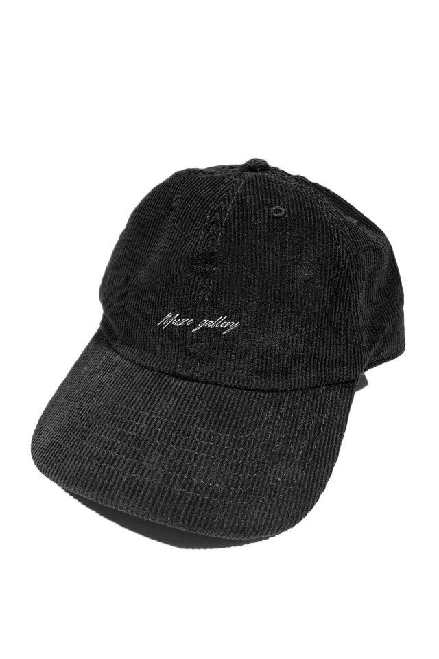 【受注商品5月中旬より順次お届け】MUZE GALLERY - CORDUROY SOUVENIR LOGO CAP (BLACK)
