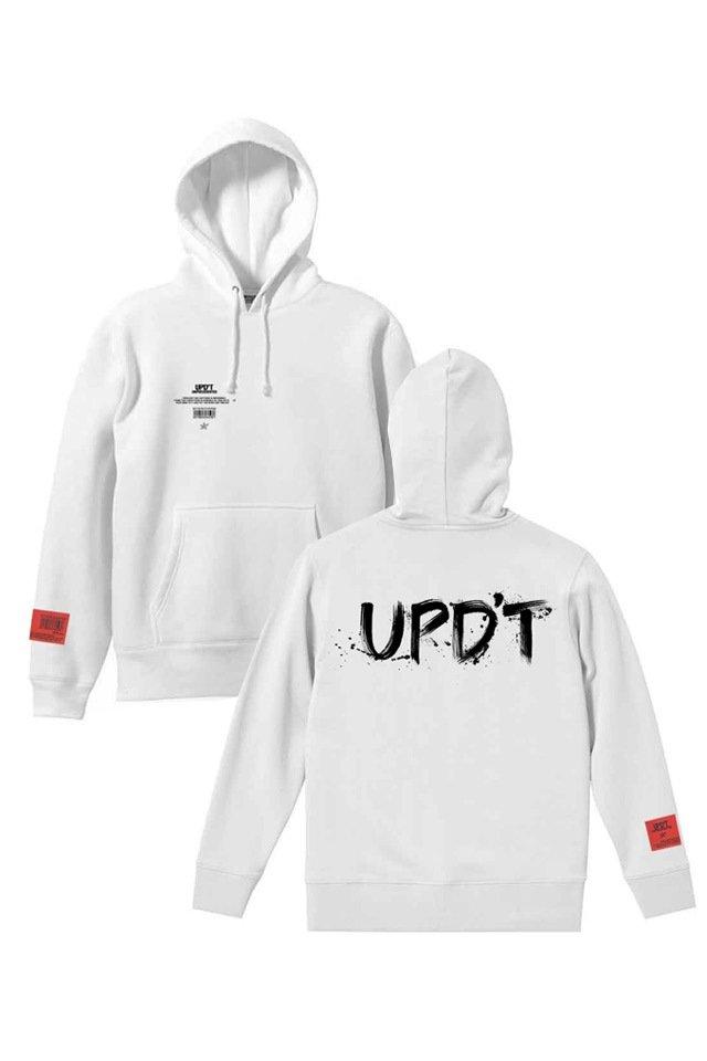 UPD'T - CALLIGRAPHY LOGO パーカー(WHITE)