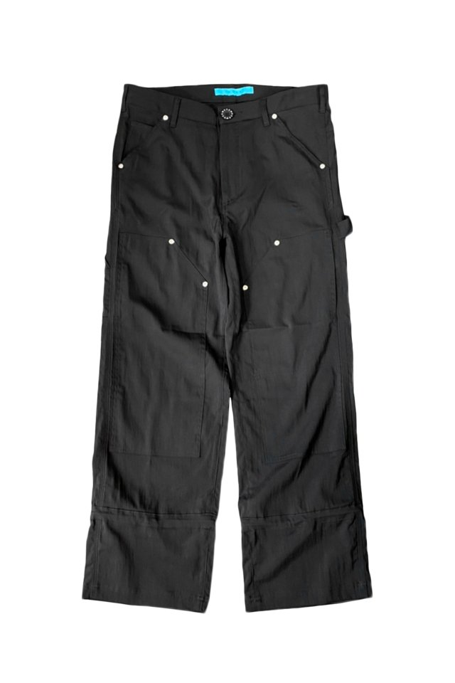 MUZE TURQUOISE LABEL【MUZE×FUN - Double knee Painter Pants】(BLACK)