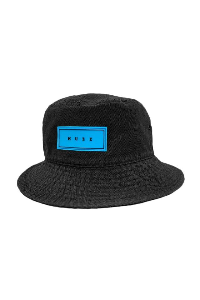 【5月上旬お届け予定先行予約商品】MUZE - BUCKET HAT (BLACK×TURQUOISE)