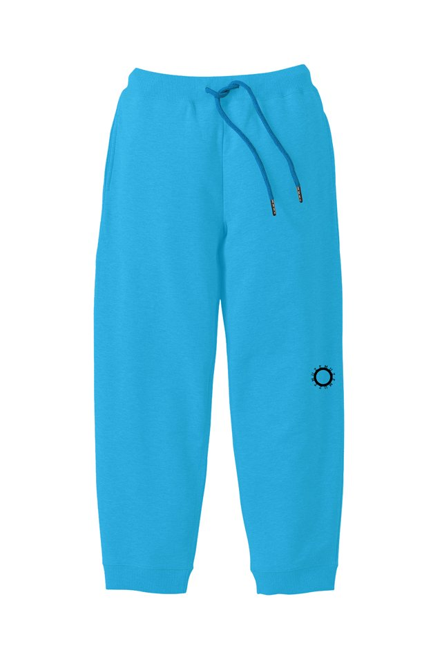 MUZE BLACK LABEL - CIRCLE LOGO SWEAT PANTS(TURQUOISE)
