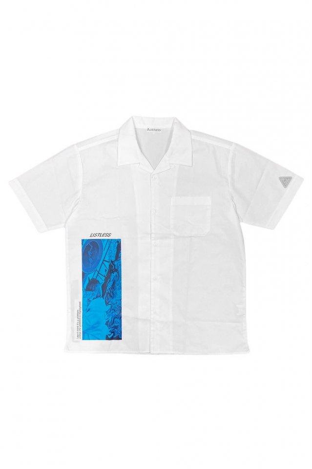 【受注商品6月上旬お届け予定】LISTLESS - OPEN COLLAR SHIRT「ーIMAGEー」(WHITE)