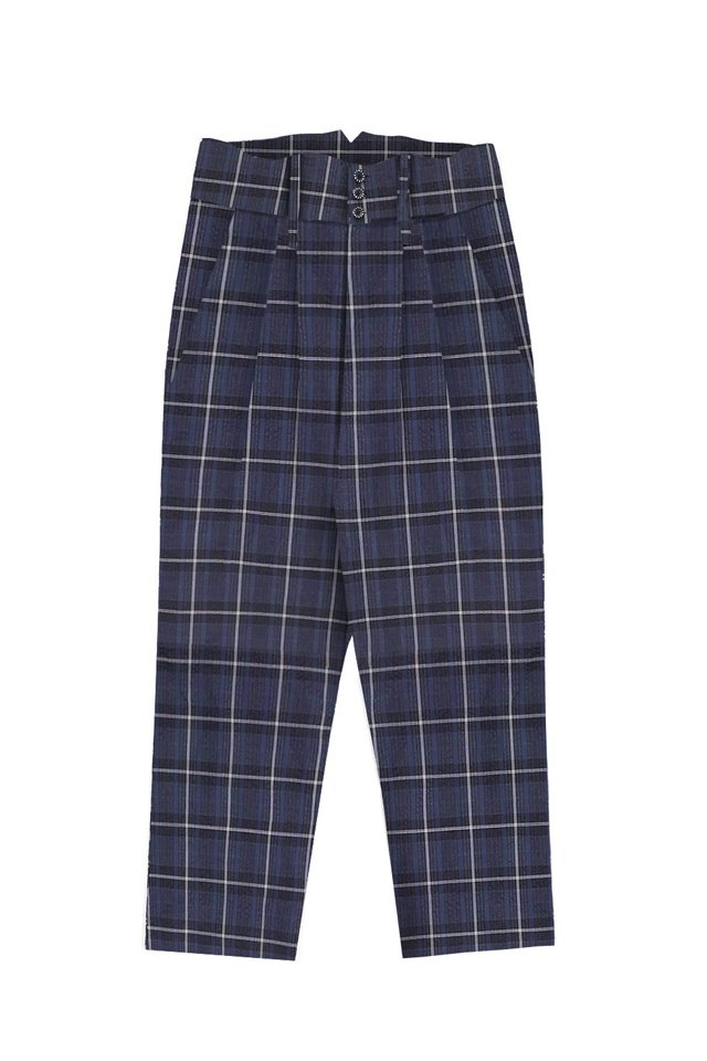 MUZE - COOLMAX SEERSUCKER HI-WEST SLACKS (BLACK CHECK)