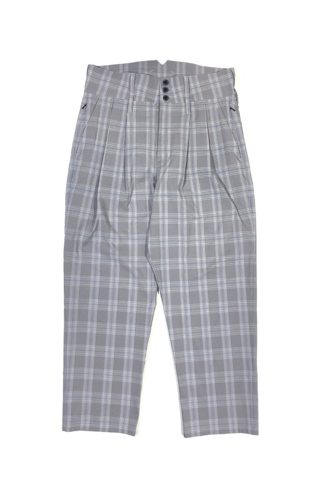 MUZE - COOLMAX SEERSUCKER HI-WEST SLACKS (GRAY CHECK)