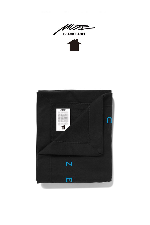 MUZE BLACK LABEL - MUZE LOGO BLANKET(BLACK)
