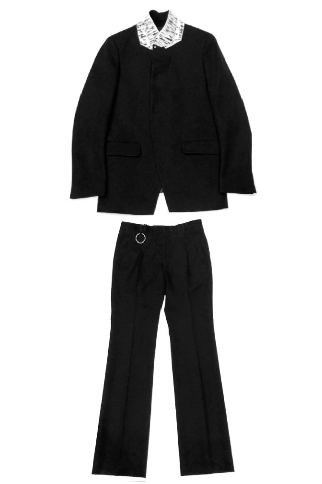 <img class='new_mark_img1' src='https://img.shop-pro.jp/img/new/icons34.gif' style='border:none;display:inline;margin:0px;padding:0px;width:auto;' />【40%OFF】MINUS - SIGNATURE TAILORED JACKET & ACCESS TROUSERS(BLACK) マイナス 2020年春夏コレクション セットアップ