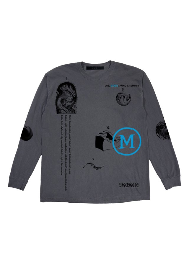 MUZE BLACK LABEL - DREAMS L/S TEE(PIGMENT DYE BLACK)