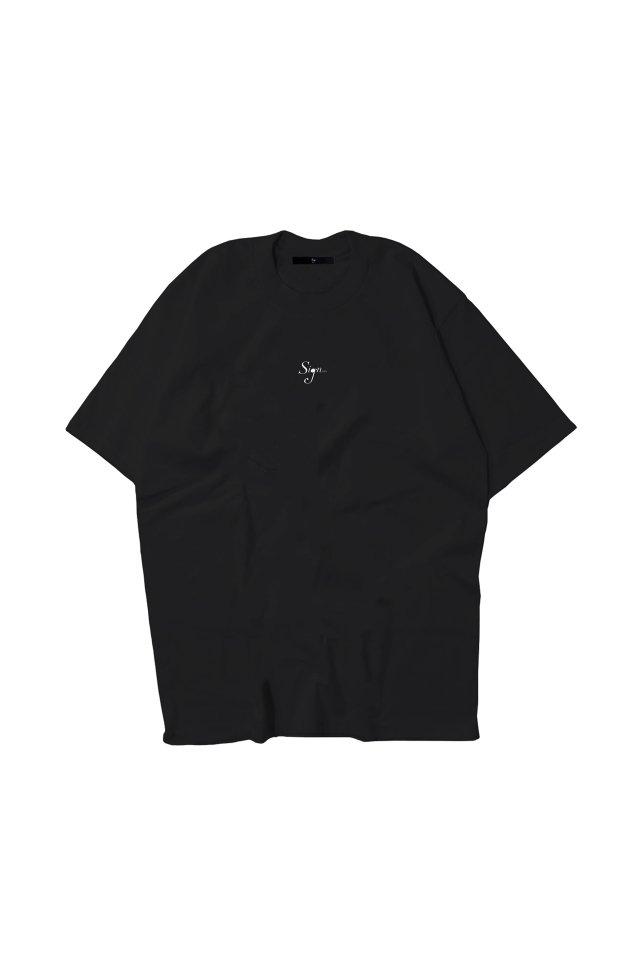 【先行予約アイテム限定商品8月下旬-9月上旬お届け予定】Sign1019 - Sign1019 embroidery T-SH(BLACK)