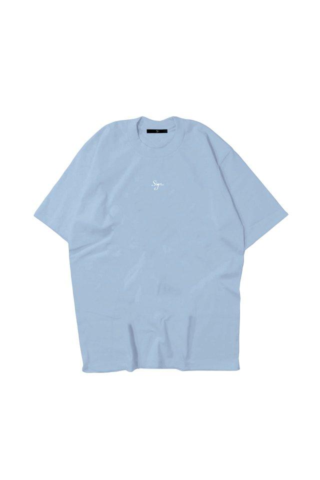 【先行予約アイテム限定商品8月下旬-9月上旬お届け予定】Sign1019 - Sign1019 embroidery T-SH(SKY BLUE-limited color)