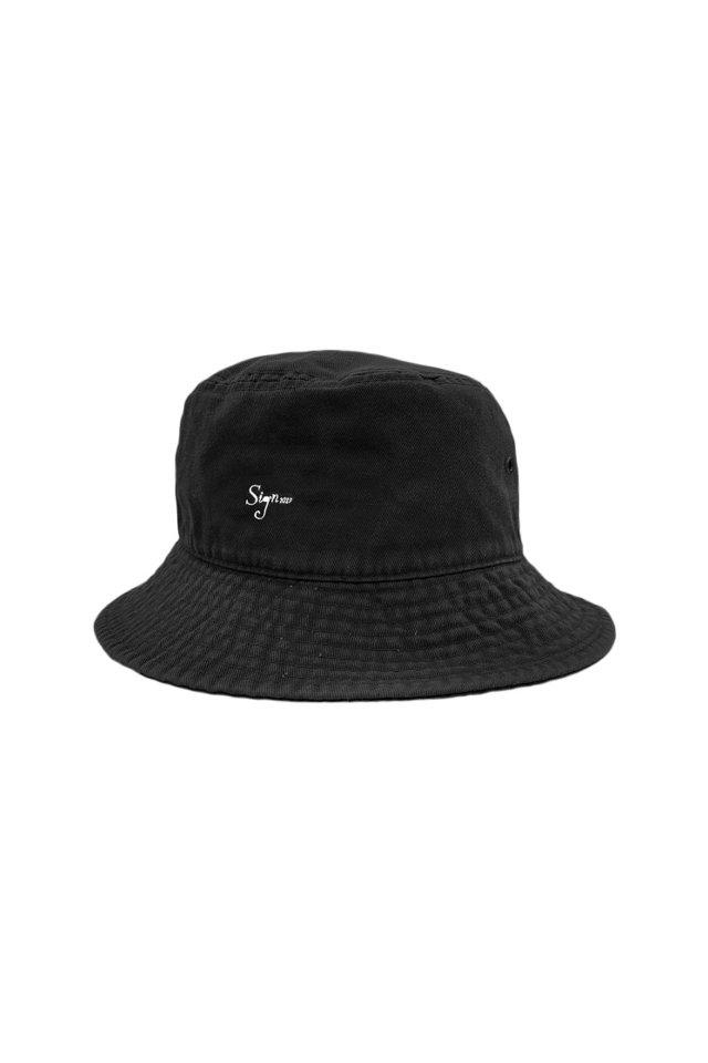 【先行予約アイテム限定商品8月下旬-9月上旬お届け予定】Sign1019 - Sign1019 embroidery BUCKET HAT(BLACK)
