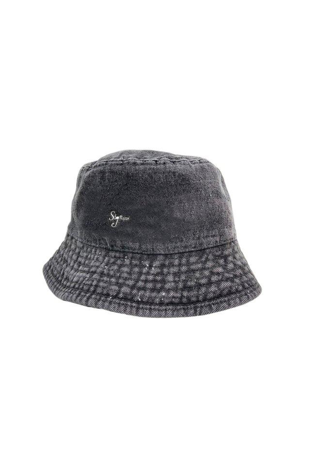 【先行予約アイテム限定商品8月下旬-9月上旬お届け予定】Sign1019 - Sign1019 embroidery BUCKET HAT(PIGMENT DYE)