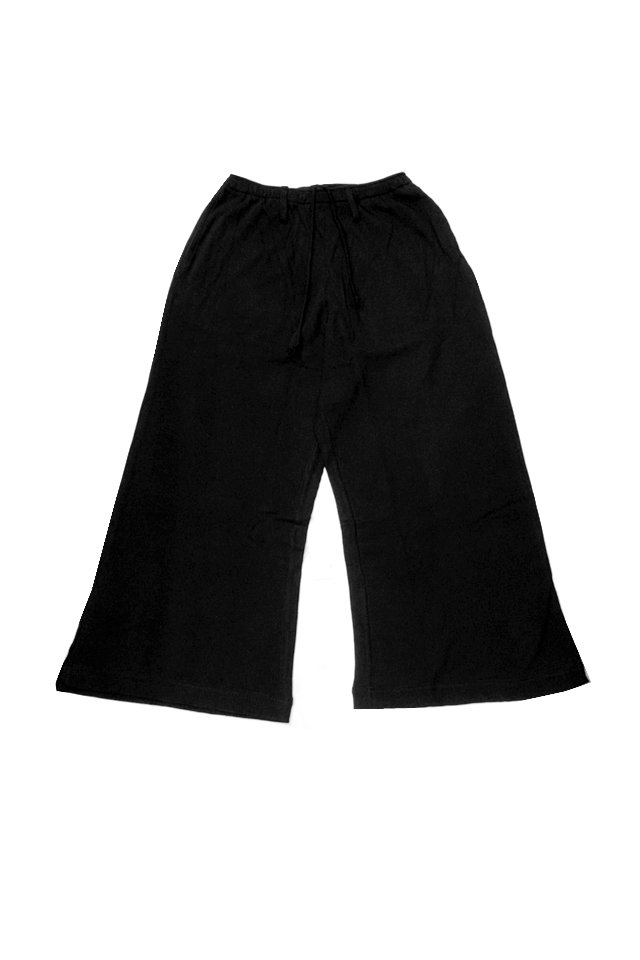 elconductorH - WAFFLE SUPERWIDE TROUSERS(BLACK)