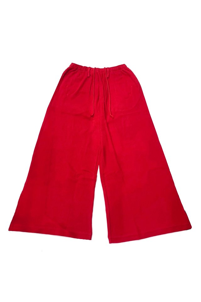 elconductorH - WAFFLE SUPERWIDE TROUSERS(RED)