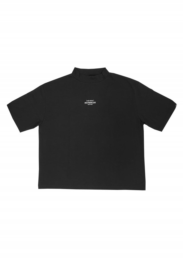 【20%OFF】PRDX PARADOX TOKYO - MOCK-NECK EMBROIDERY T-SHIRTS-NO PROBLEM(BLACK)