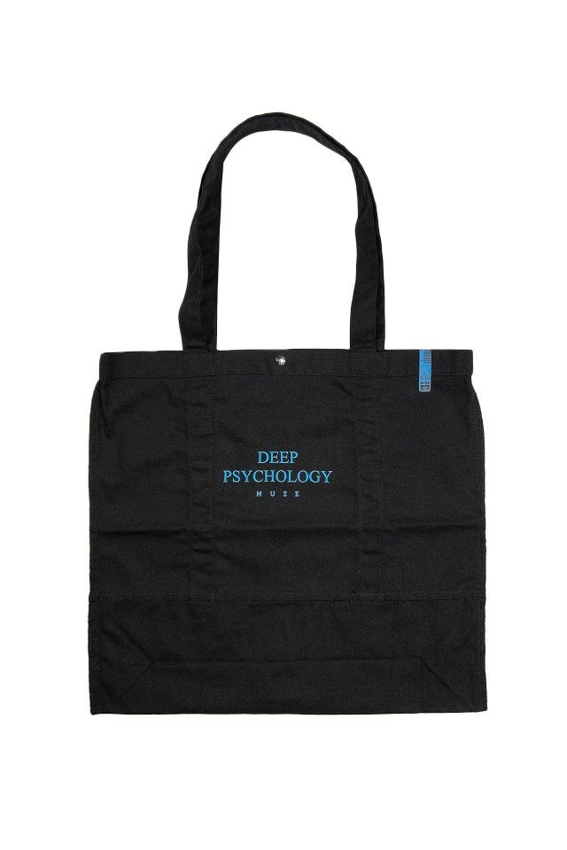 MUZE BALCK LABEL - MUZE DEEP PSYCHOLOGY TOTE BAG(BLACK)