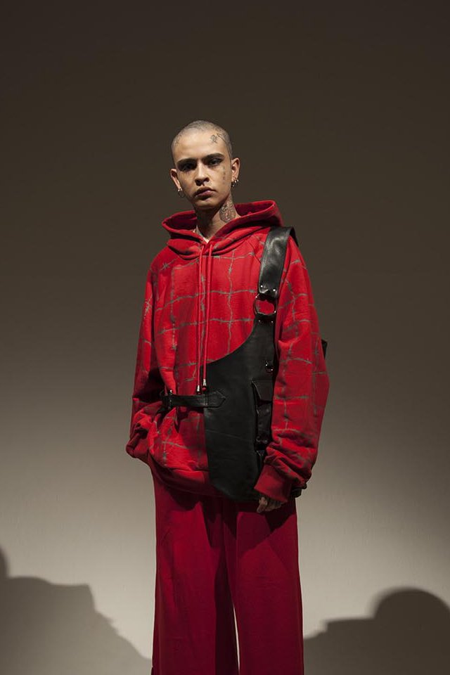 elconductorH - LEATHER HARF VEST