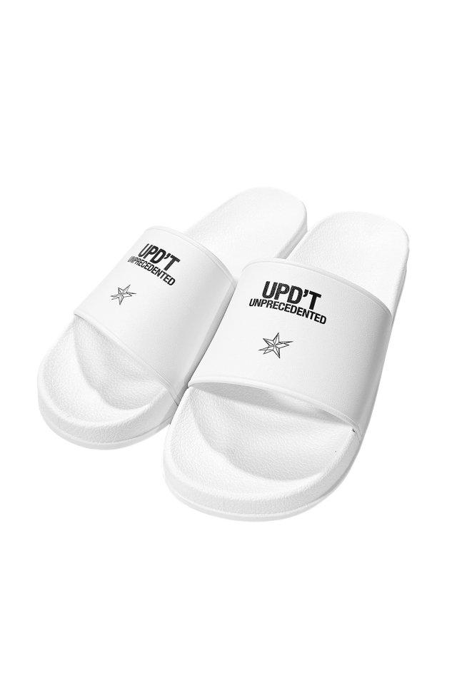 【受注商品9月下旬お届け予定】UPD'T - LOGO SANDAL(WHITE)